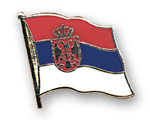 Serbien Wappen Pin Flaggenpin