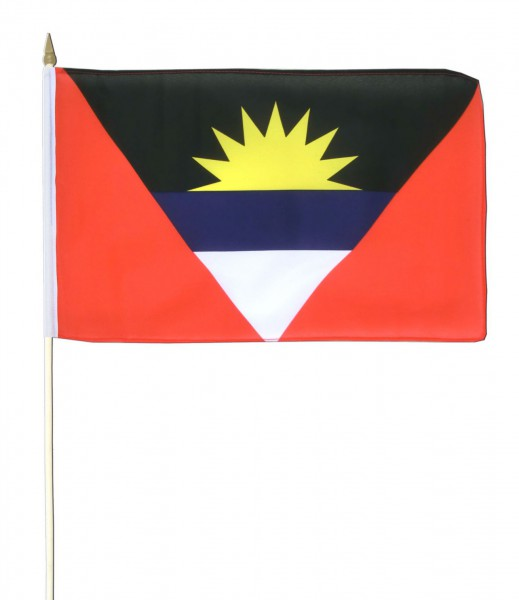 Antigua und Barbuda Stockfahne 30cm x 45 cm