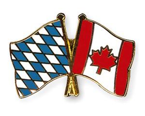 Bayern-Kanada Freundschaftspin Flaggenpin