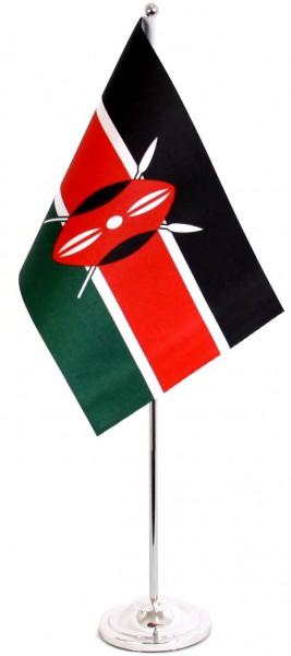 Kenia Tischfahne 22,5x15cm Satin