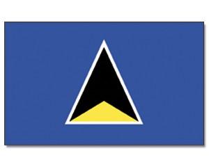St. Lucia Stockfahne 30cm x 45 cm