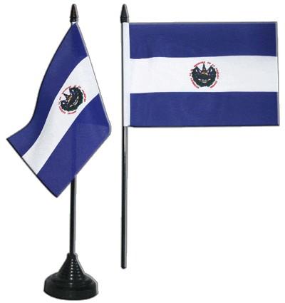 El Salvador Tischfahne 10x15cm
