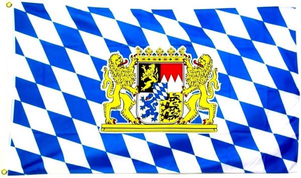 Bayern Flagge Löwenwappen 90 x 150 cm