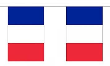 Frankreich Länderkette 3 m - 10 Flaggen á 15x22,5cm
