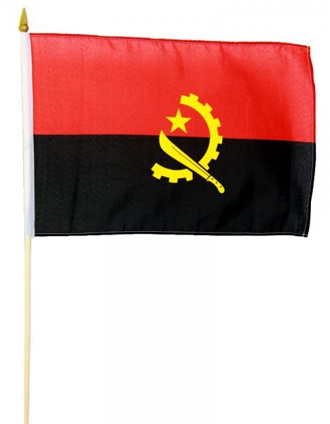 Angola Stockflagge 30x45 cm