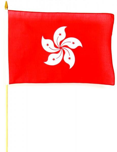 Hong Kong Stockfahne 30cm x 45 cm