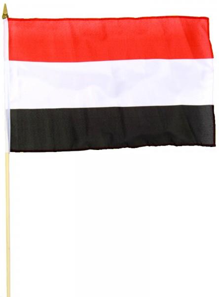 Jemen Stockfahne 30cm x 45 cm
