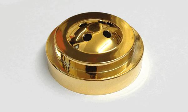 Tischsockel Gold für 4 Tischfahnen 10x15cm und 22x15cm