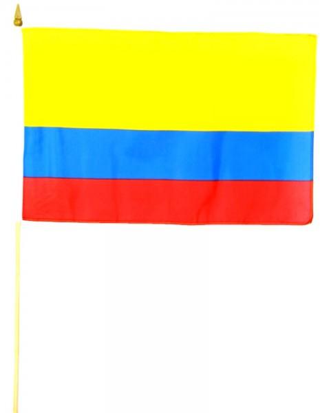 Kolumbien Stockfahne 30cm x 45 cm