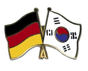 Deutschland-Südkorea Freundschaftspin Flaggenpin