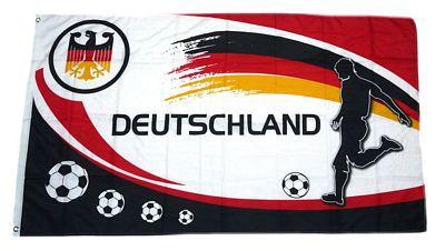 Deutschland Fan Flagge 90 x 150 cm Nr 12