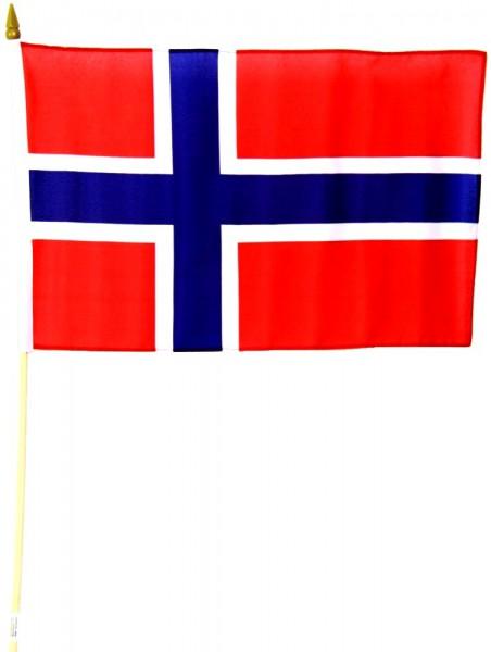 Norwegen Stockfahne 30cm x 45cm