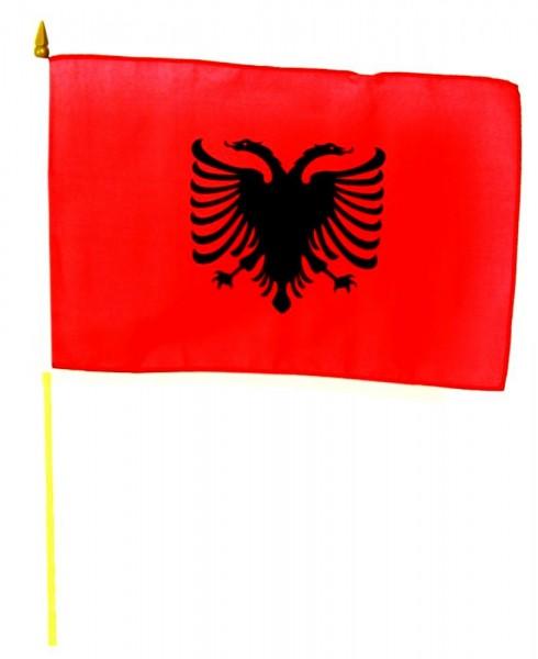 Albanien Stockfahne 30 x 45 cm