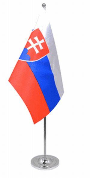 Slowakei Tischfahne 22,5x15cm Satin