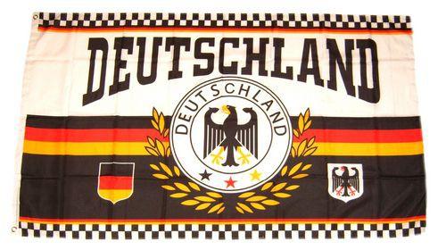 Deutschland Fan Flagge 90 x 150 cm Lorbeer - 3 Sterne