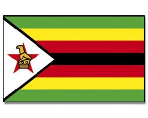 Simbabwe Stockfahne 30cm x 45 cm