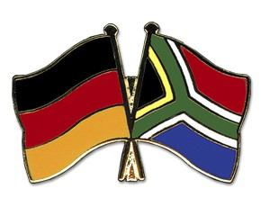 Deutschland-Südafrika Freundschaftspin Flaggenpin
