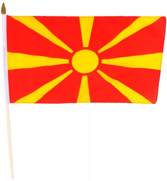 Mazedonien Stockflagge 30x45 cm