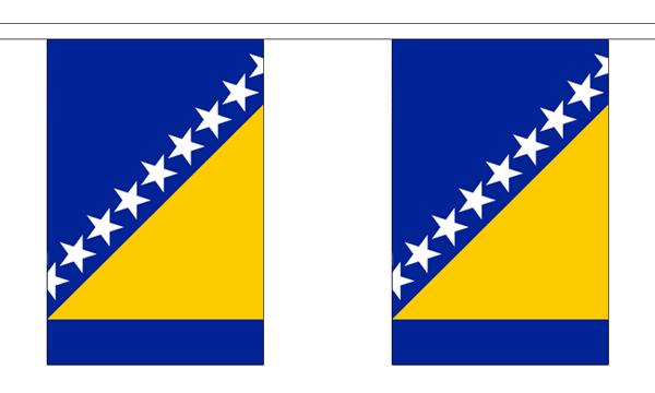 Bosnien-Herzegowina Länderkette 3 m - 10 Flaggen á 15x22,5cm
