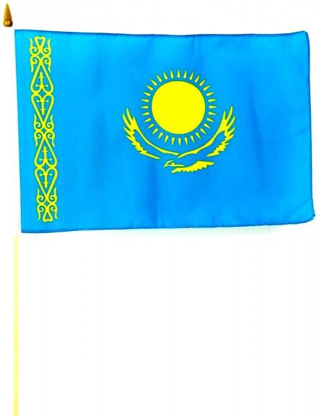 Kasachstan Stockfahne 30cm x 45 cm