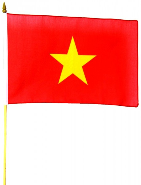 Vietnam Stockfahne 30cm x 45 cm