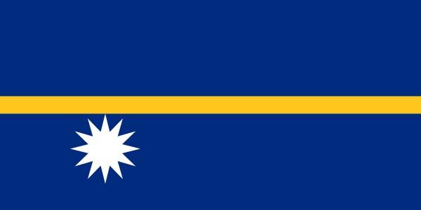 Nauru Flagge 90 x 150 cm