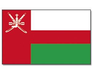 Oman Stockfahne 30cm x 45 cm