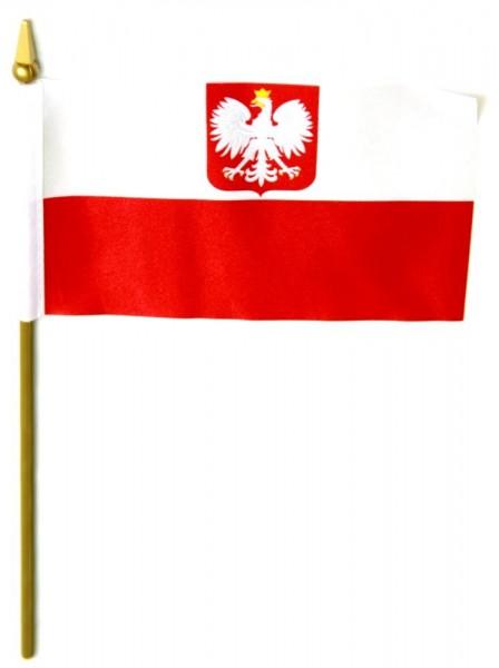 Polen Tischfahne 10x15cm mit Adler