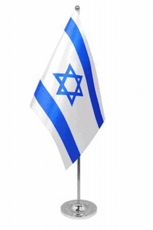 Israel Tischfahne 22,5x15cm Satin