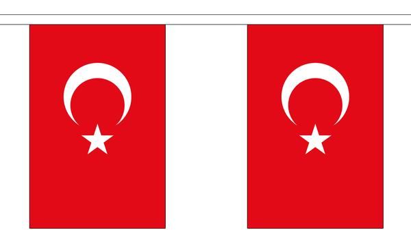 Türkei Länderkette 3 m - 10 Flaggen á 15x22,5cm