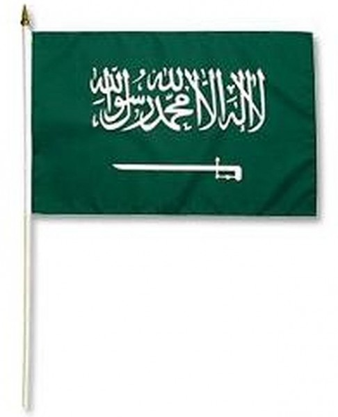Saudi Arabien Stockfahne 30cm x 45 cm