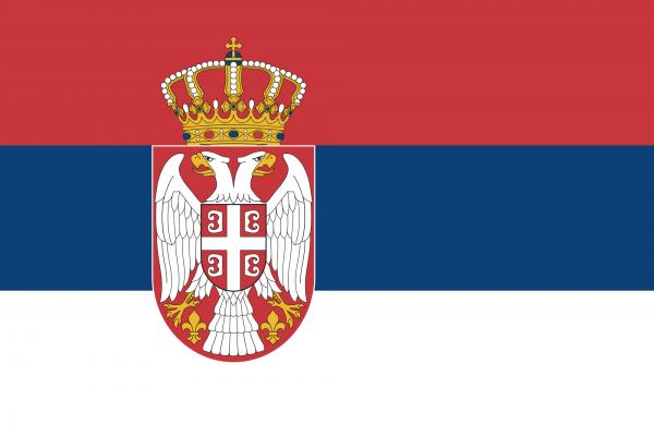 Serbienflagge 90 x 150 cm