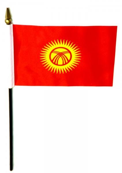 Kirgisitan Tischfahne 10x15cm