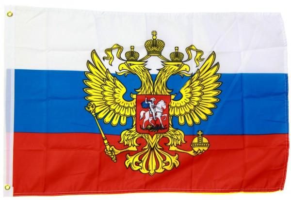 Russland mit Wappen 150cm x 250cm