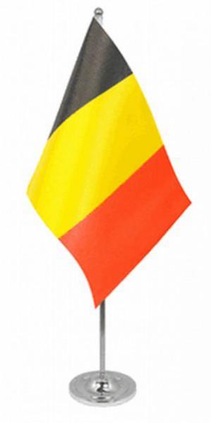 Belgien Tischfahne 22,5x15cm Satin