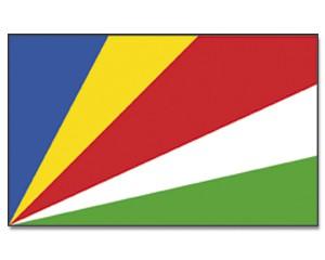 Seychellen Stockfahne 30cm x 45 cm