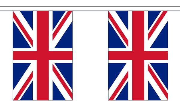 Großbritannien Länderkette 3 m - 10 Flaggen á 15x22,5cm