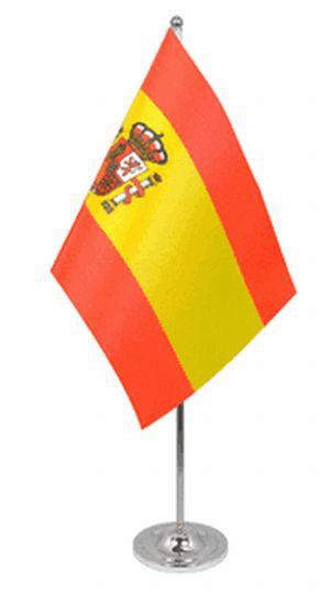 Spanien Tischfahne 22,5x15cm mit Wappen