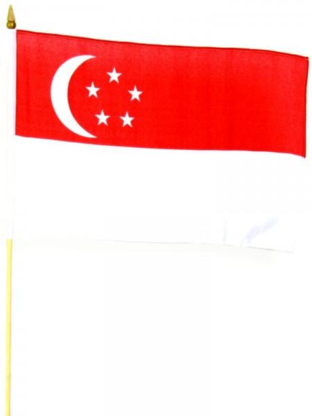 Singapur Stockfahne 30cm x 45 cm