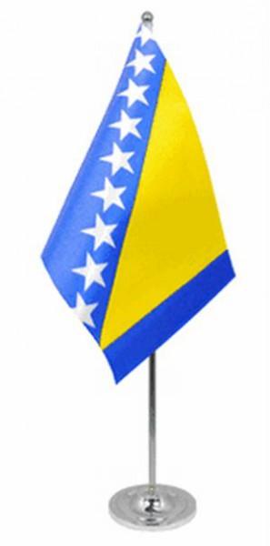Bosnien Tischfahne 22,5x15cm Satin