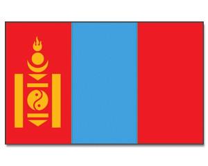 Mongolei Flagge 90 x 150 cm