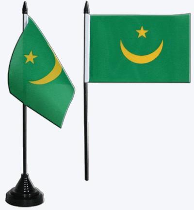 Mauretanien Tischfahne 10x15cm