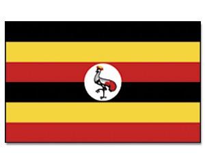 Uganda Stockfahne 30cm x 45 cm
