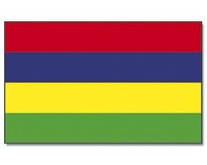Mauritius Stockfahne 30cm x 45 cm