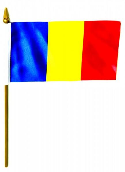 Tschad Tischfahne 10x15cm