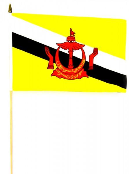 Brunei Stockfahne 30cm x 45 cm