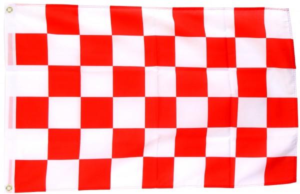 Karoflagge weiss/rot 90x150 cm mit 2 Ösen