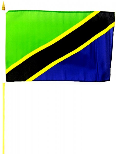 Tansania Stockfahne 30cm x 45 cm