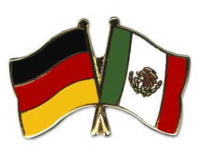 Deutschland-Mexiko Freundschaftspin Flaggenpin