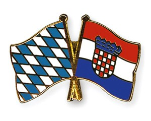 Bayern-Kroatien Freundschaftspin Flaggenpin
